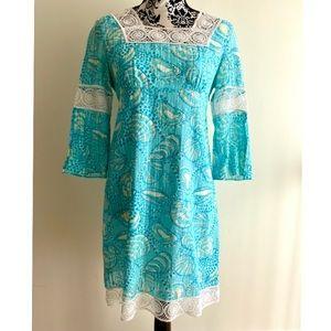 Blue Lily Pulitzer dress- vintage- longish sleeve